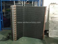 Bare aluminum foil condensor coil