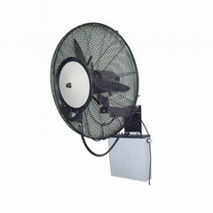 Wall-mounted centrifugal mist fan with manual control