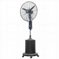 High pressure nozzle mist fan for