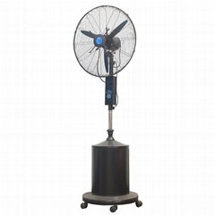 High pressure nozzle mist fan for outdoor use
