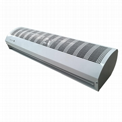 Slim window and door air curtain for residential and light commercial use