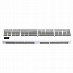 Cross-flow PTC heating air curtain