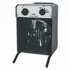 3KW portable industrial electrical fan heater