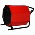 Portable industrial fan heater with