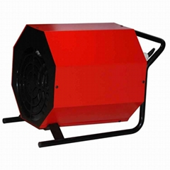 Portable industrial fan heater with handle