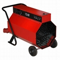 Portable industrial space heater with