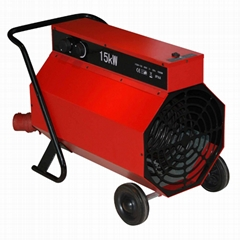 Portable industrial space heater with handle and wheel