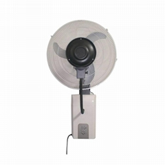 18 inch wall-mounted centrifugal misting cooling fan with manual control