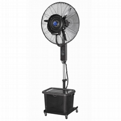 26 inch centrifugal outdoor misting cooling fan with manual control