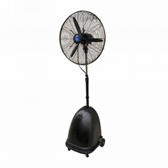 High pressure nozzle outdoor mist cooling fan