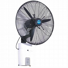 Wall-mounted high pressure nozzle mist fan