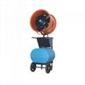 Industrial mobile misting cooler fan