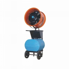 Industrial mobile misting cooler fan with remote control