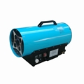 Portable gas heater with thermostat