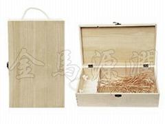 松木雙支裝酒盒