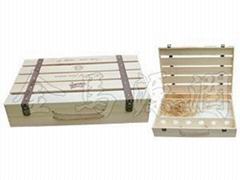 平排六支裝木箱