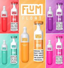 FLUM FLOAT Disposable E Cigarette Pod Device Kit 3000 Puffs 8ml Cartridge