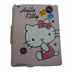 Hellokitty Magnetic Stand Leather Cover Case for iPad 2 iPad2
