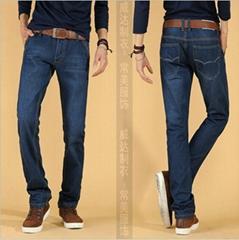 牛仔褲-26元整款男裝直筒牛仔褲