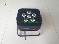 hotsale wedding light battery flat par can with wireless control flat par can