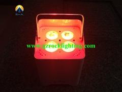 4*18w  wireless dmx /battery powered /ir remote led uplight with rgbwa uv