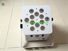 foldable design 12*18w rgbwa uv wireless dmx +battery powered led uplight