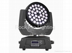 disco lighting 36x10W RGBW 4in1 led moving head wash light with zoom function