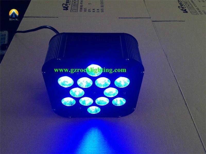 High brightness 12*18w rgbwa uv led flat par perfect for ...