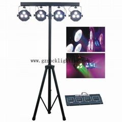 led stage par can 3*15w led 4 par ,disco led par lights