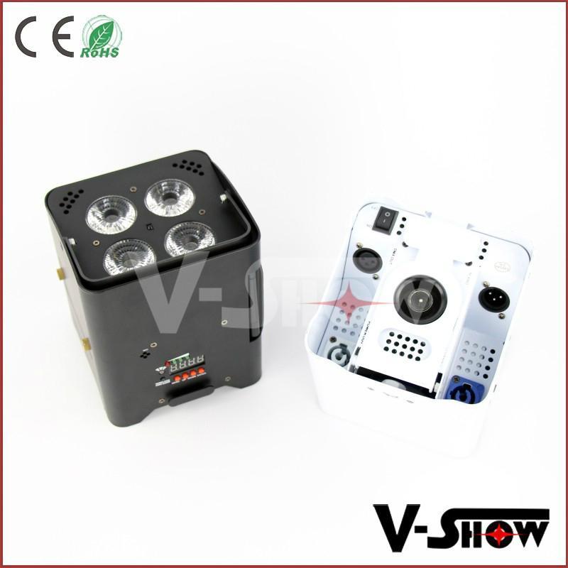 new arrivaldj ighting  4*18w rgbwa uv wireless dmx +battery +ir remote led par 4
