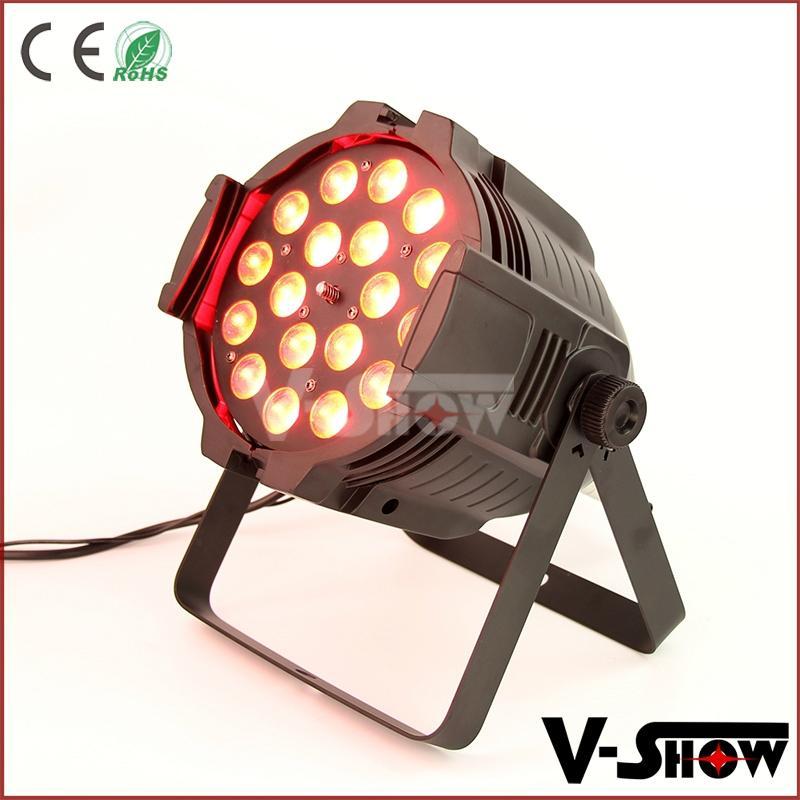 18pcs 18w rgbaw uv aluminum mini led par dj zoom stage light with 8 - 60 degree  3