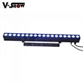 new arrival Individual Control COB LED washer 18pcs 10w RGBW 4in1 for building
