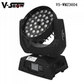 pomotion!new upgrade 36*10w 4in1 RGBW with zoom moving head for stage concert  4