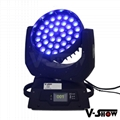 pomotion!new upgrade 36*10w 4in1 RGBW with zoom moving head for stage concert  8