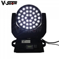 pomotion!new upgrade 36*10w 4in1 RGBW with zoom moving head for stage concert  9