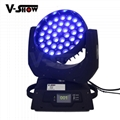 pomotion!new upgrade 36*10w 4in1 RGBW with zoom moving head for stage concert
