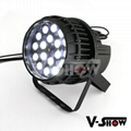 18*18W RGBWA+UV outdoor IP65 zoom par for outdoor use