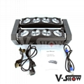 double spider moving head 8*10w white