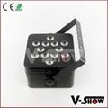 battery slim led par  with 12*15w rgbwa