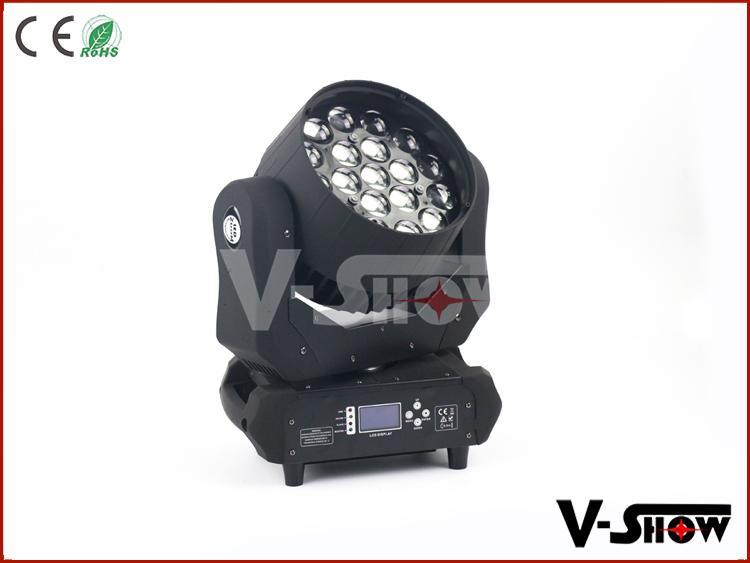 pro light moving heads19x12w rgbw zoom led moving head light