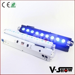 9*18W RGBAW rechargeable battery powered & wireless dmx led bar light