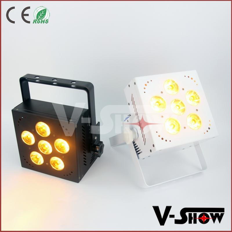 6 Uplighting Rgbaw Par Led uv 18w Slim Freedom Flat Battery doWrxCBe