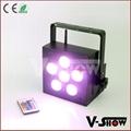 Freedom led flat par 6*18W RGBAW+UV  battery uplighting slim par light
