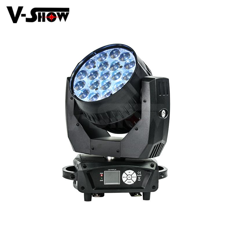 hot 19*12w rgbw moving beam wash zoom light with aura effect ,zoom dj light