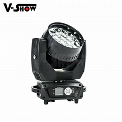 Disco moving zoom light ,Aura Beam Wash Zoom Moving Head LED 19*15W RGBW 4in1 Co