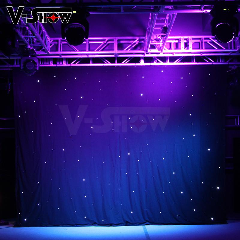 V-Show LED star curtain Background curtain lights 3*4M with controller 7