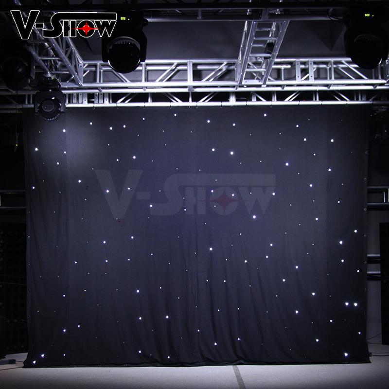 V-Show LED star curtain Background curtain lights 3*4M with controller 8