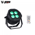 4*18W 6in1 RGBWA+UV Waterproof Battery Powered & wireless DMX LED Par IR control