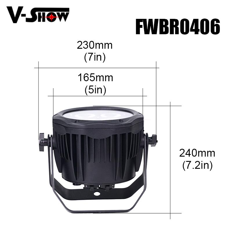 4*18W 6in1 RGBWA+UV Waterproof Battery Powered & wireless DMX LED Par IR control 4
