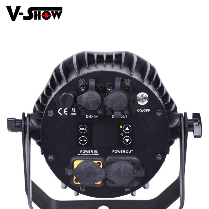 4*18W 6in1 RGBWA+UV Waterproof Battery Powered & wireless DMX LED Par IR control 5